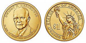 2015 Dwight D. Eisenhower Presidential Dollar Coin Design