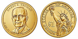 2015 Harry S. Truman Presidential Dollar Coin Design