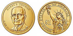 2015 Harry S. Truman Presidential Dollar Coin Design