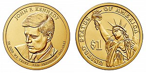 2015 John F. Kennedy Presidential Dollar Coin Design