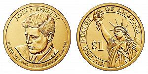 2015 John F. Kennedy Presidential Dollar Coin Design