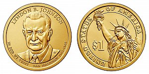 2015 Lyndon B. Johnson Presidential Dollar Coin Design