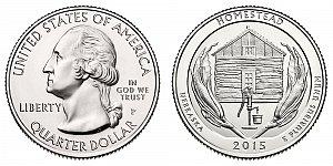 2015 Homestead National Monument of America Quarter Design - Nebraska