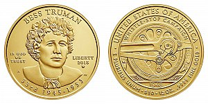 2015 Bess Truman First Spouse Gold Coin