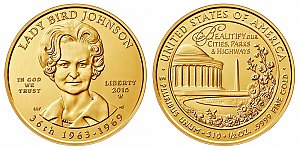 2015 Lady Bird Johnson First Spouse Gold Coin