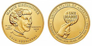 2015 Mamie Eisenhower First Spouse Gold Coin