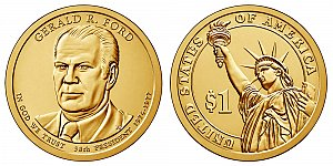 2016 Gerald Ford Presidential Dollar Coin Design