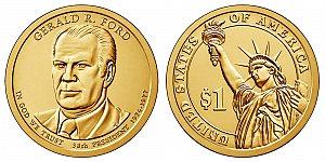 2016 Gerald Ford Presidential Dollar Coin Design