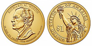 2016 Richard Nixon Presidential Dollar Coin Design