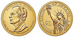 2016 Richard Nixon Presidential Dollar Coin Design