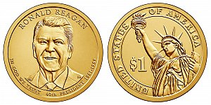 2016 Ronald Reagan Presidential Dollar Coin Design