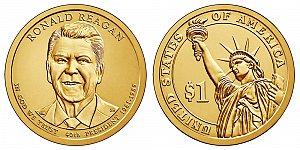 2016 Ronald Reagan Presidential Dollar Coin Design
