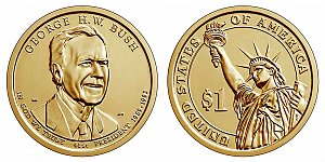 2020 George H.W. Bush Presidential Dollar Coin Design