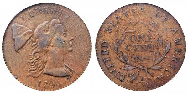 1794 Liberty Cap Large Cent Penny - Head of 1793