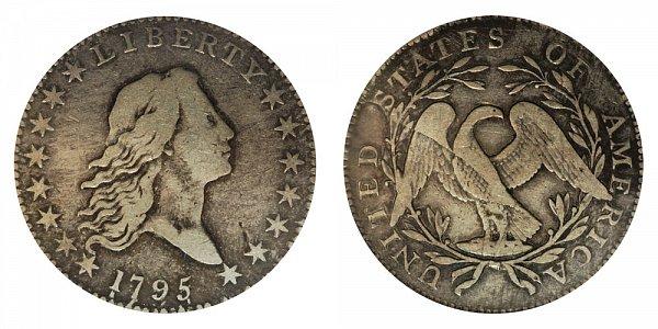 1795 Flowing Hair Half Dollar - 3 Leaves Under Each Wing of Eagle