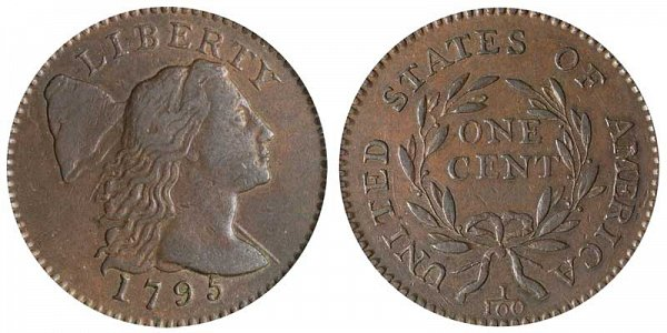 1795 Liberty Cap Large Cent Penny - Lettered Edge