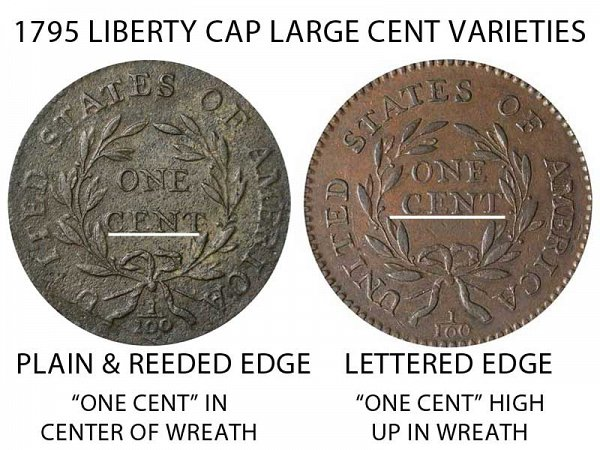 1795 Liberty Cap Large Cent - One Cent High in Wreath