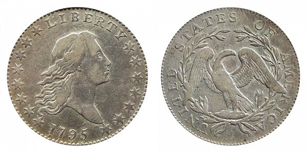 1795 Flowing Hair Half Dollar - Recut Date