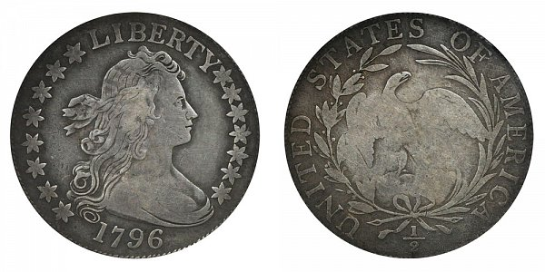 1796 Draped Bust Half Dollar - 15 Stars