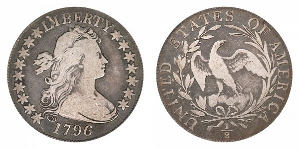 1796 Draped Bust Half Dollar - 16 Stars