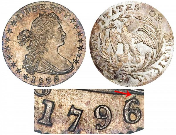 1796/6 Draped Bust Half Dime - 6 Over 5