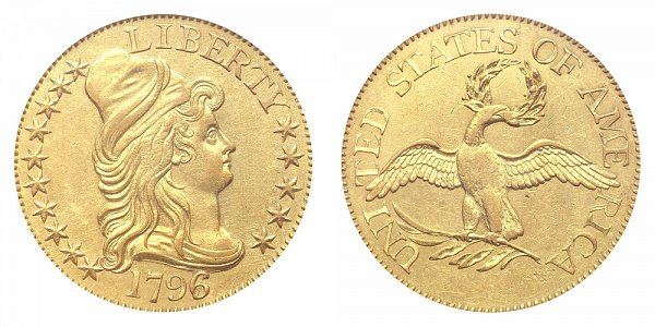 1796/5 Small Eagle - Turban Head $5 Gold Half Eagle - Five Dollars