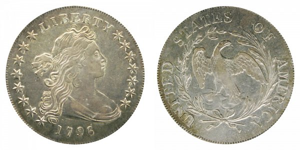 1796 Draped Bust Silver Dollar - Small Date - Large Letters