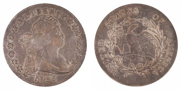 1796 Draped Bust Silver Dollar - Small Date - Small Letters