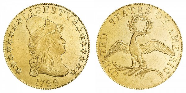 1796 Turban Head $10 Gold Eagle - Ten Dollars
