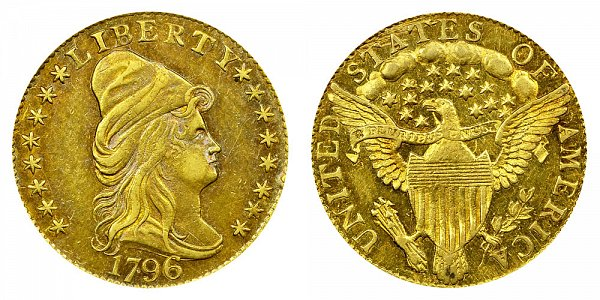 1796 Turban Head $2.50 Gold Quarter Eagle - With Stars - 2 1/2 Dollars