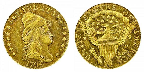 1796 Turban Head $2.50 Gold Quarter Eagle - With Stars - 2 1/2 Dollars