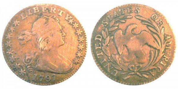 1797 Draped Bust Half Dime - 15 Stars