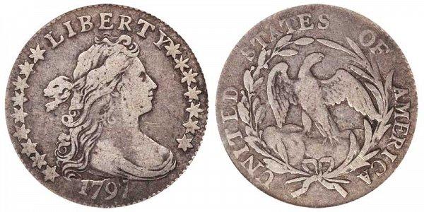 1797 Draped Bust Half Dime - 16 Stars