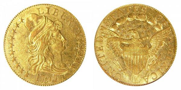 1797/5 Large Eagle - Turban Head $5 Gold Half Eagle - Five Dollars