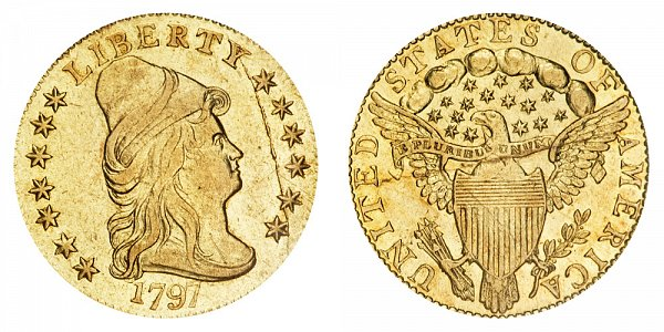 1797 Turban Head $2.50 Gold Quarter Eagle - 2 1/2 Dollars
