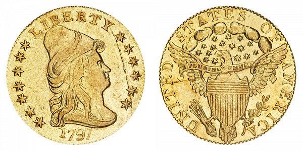 1797 Turban Head $2.50 Gold Quarter Eagle - 2 1/2 Dollars