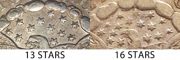 1798/7 Draped Bust Dime - 13 Stars vs 16 Stars
