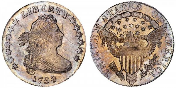 1798 Draped Bust Dime - Large 8