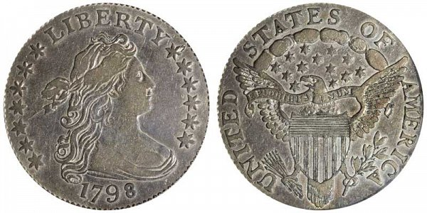 1798 Draped Bust Dime - Small 8