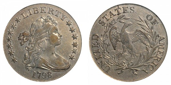 1798 Draped Bust Silver Dollar - Small Eagle - 13 Stars