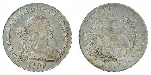 1798 Draped Bust Silver Dollar - Small Eagle - 15 Stars