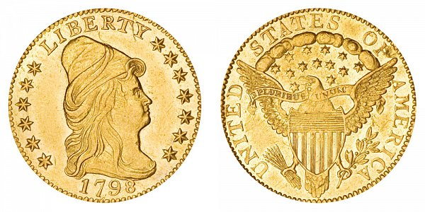 1798 Turban Head $2.50 Gold Quarter Eagle - 2 1/2 Dollars
