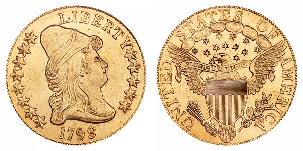 1799 Large Stars - Turban Head $10 Gold Eagle - Ten Dollars