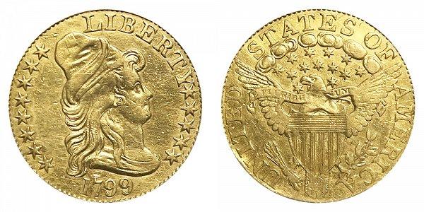1799 Turban Head $5 Gold Half Eagle - Five Dollars