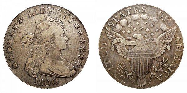 1800 Draped Bust Silver Dollar - 10 Arrows