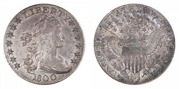 1800 Draped Bust Silver Dollar - AMERICAI Variety