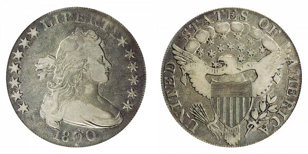 1800 Draped Bust Silver Dollar - Dotted Date
