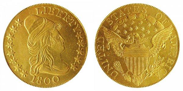 1800 Turban Head $10 Gold Eagle - Ten Dollars