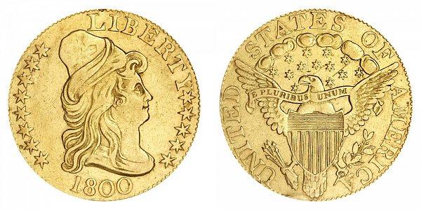 1800 Turban Head $5 Gold Half Eagle - Five Dollars
