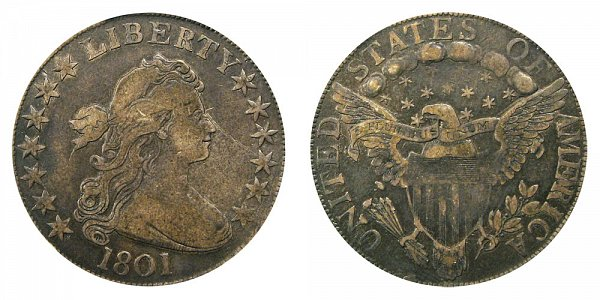 1801 Draped Bust Half Dollar - Heraldic Eagle Reverse